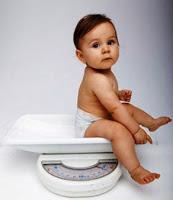 Berat Badan Bayi di Timbangan